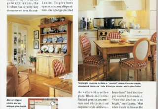 Magazine Page American HomeStyle K and B 1995