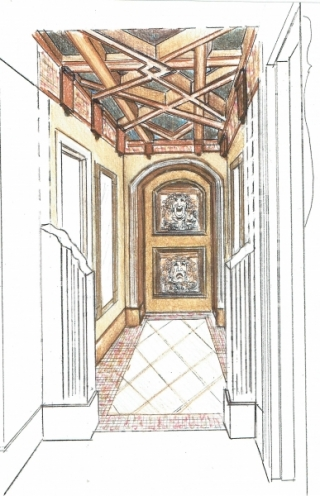 Woodway Theater Entry Concept